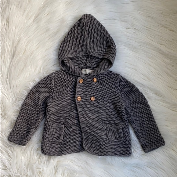 Zara knit cardigan with hood - size 6-9 months